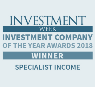 Investment Week Investment Company of the Year Awards 2018 Specialist Income